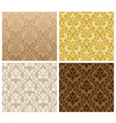 damask pattern set vector image