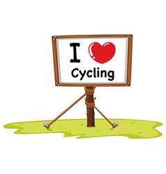 I love cycling vector image