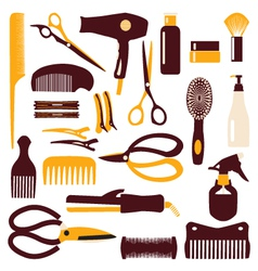 Babrber haircutting tool vector