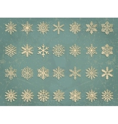 Snowflakes set elegant snowflakes for vector