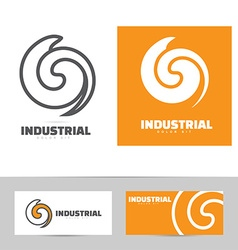 Industrial logo design concept vector