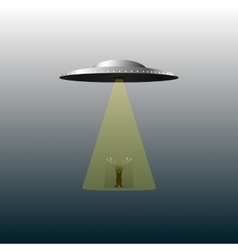 Ufo and alien vector