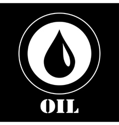 Icon of oil vector