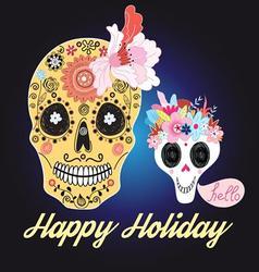 Beautiful of skulls vector image