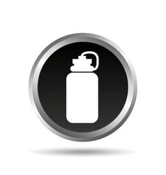 Gym water bottle design vector