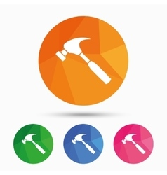 Hammer sign icon repair service symbol vector