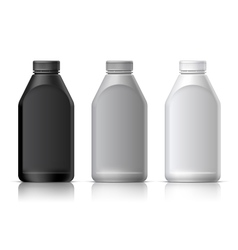 Big plastic bottle vector