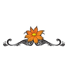 A flowery border vector image
