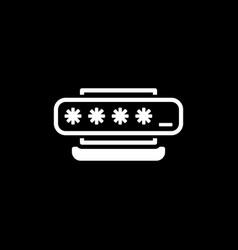 access password icon flat design vector image