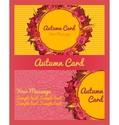 Autumn card business card invitation flyer vector