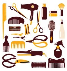 Babrber haircutting tool vector
