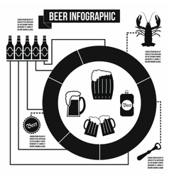 Beer infographic simple style vector image vector image