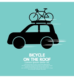 Bicycle On The Roof vector image vector image