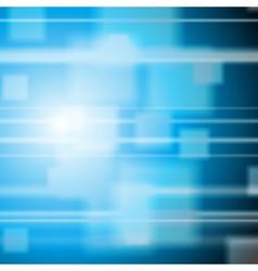 Bright blue tech design vector image vector image