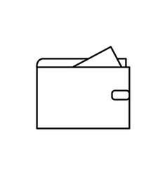 cash wallet icon vector image vector image