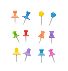 Color pins collection vector image
