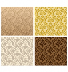 damask pattern set vector image vector image