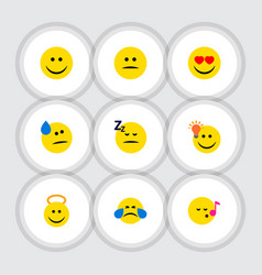 flat icon expression set of joy cold sweat have vector image vector image