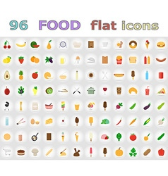 food flat icons 01 vector image vector image