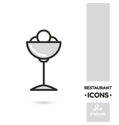 Ice cream restaurant icon collection vector