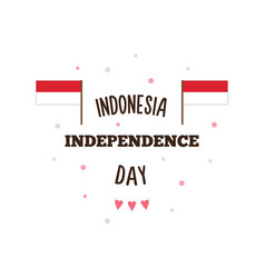 indonesia independence day vector image