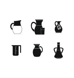 jug icon set simple style vector image