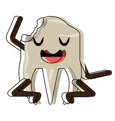 Kawaii tooth icon image vector