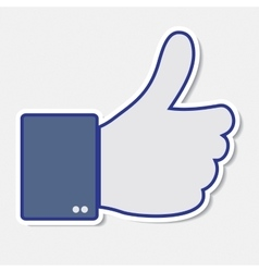 Like it thumb up icon vector image