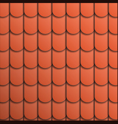pattern terracotta roof tile vector image