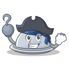 Pirate tray character cartoon style vector