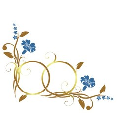 Ring with floral decor vector
