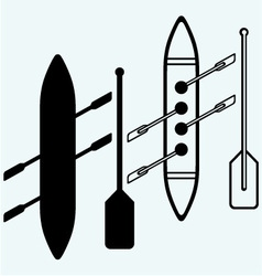 Rowers boat sports vector image