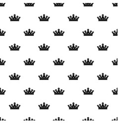 Royal crown pattern vector