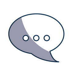 Speech bubble chat icon vector