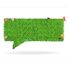 Speech bubble green grass texture background vector image vector image