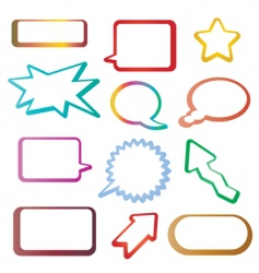 tags and speech bubbles vector image vector image