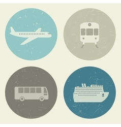 Transport grunge icons vector