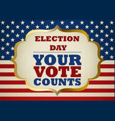 Usa election day symbol vector
