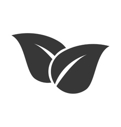 Leaves ecology plant icon graphic vector