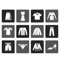 Flat clothing icons vector