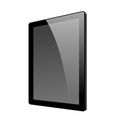 Realistic tablet pc computer vector
