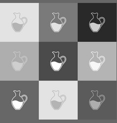 Amphora sign  grayscale version of popart vector