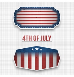 Banners for 4th of july american holiday vector