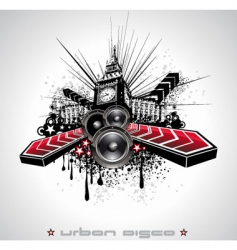 Urban grunge element vector