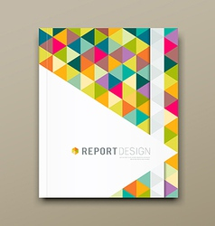 Cover report colorful triangle geometric pattern vector