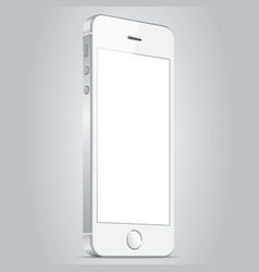 Realistic white apple iphone 5s and iphone 6 plus vector