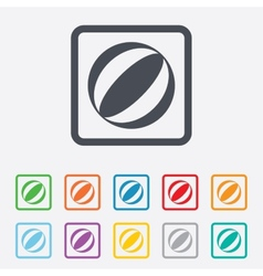 Beach ball sign icon water ball vector