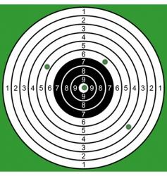 Raked target vector