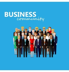 Flat of business or politics community a large vector