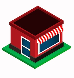 Isometric shop vector